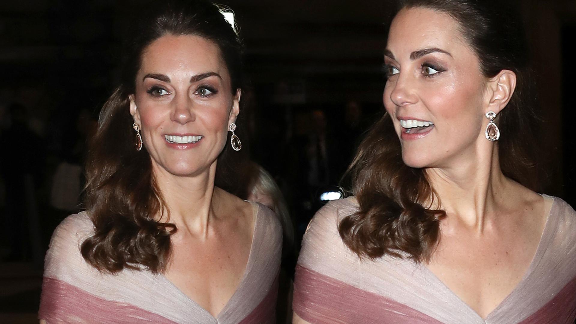Księżna Kate BŁYSZCZAŁA na gali w kreacji od Gucci (ZDJĘCIA)