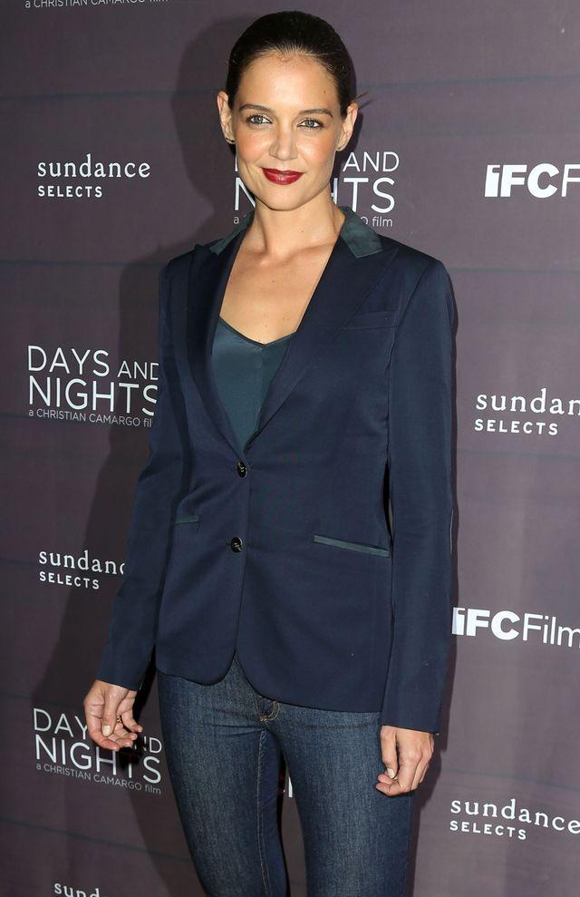 Roześmiana Katie Holmes promuje nowy film (FOTO)
