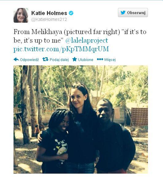 Katie Holmes udziela się charytatywnie (FOTO)