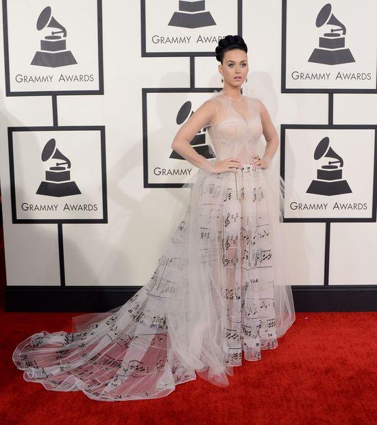Katy Perry ca�a w nutkach (FOTO) katy perry grammy 2014 kreacja