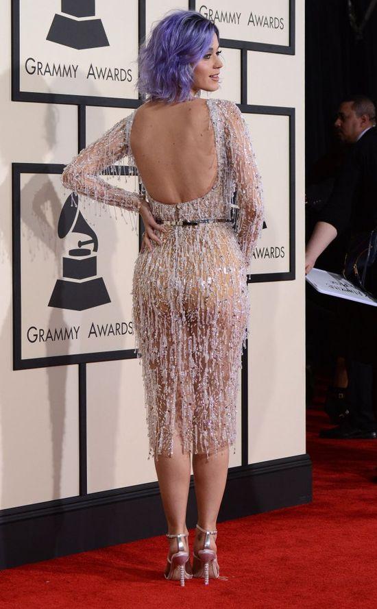 Katy Perry na Grammy cała w prześwitach (FOTO)