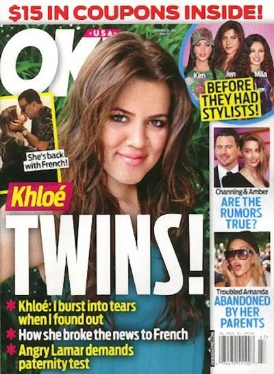 Magazyn OK: Khloe Kardashian oczekuje bliźniąt!