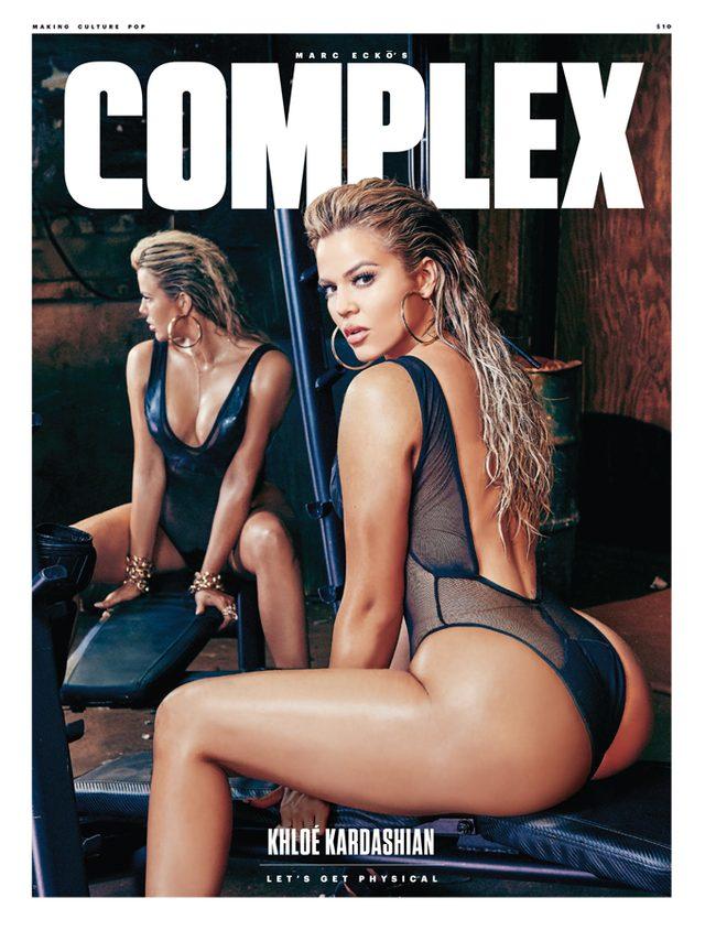 Khloe Kardashian BEZ RETUSZU - zdjęcie z sesji dla COMPLEX