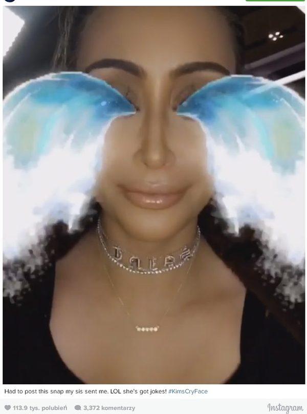 Kim Kardashian płacze na Snapchacie