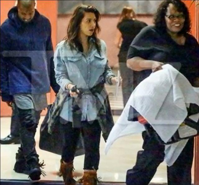 Kim Kardashian wyszła z domu, z Nori! (FOTO)