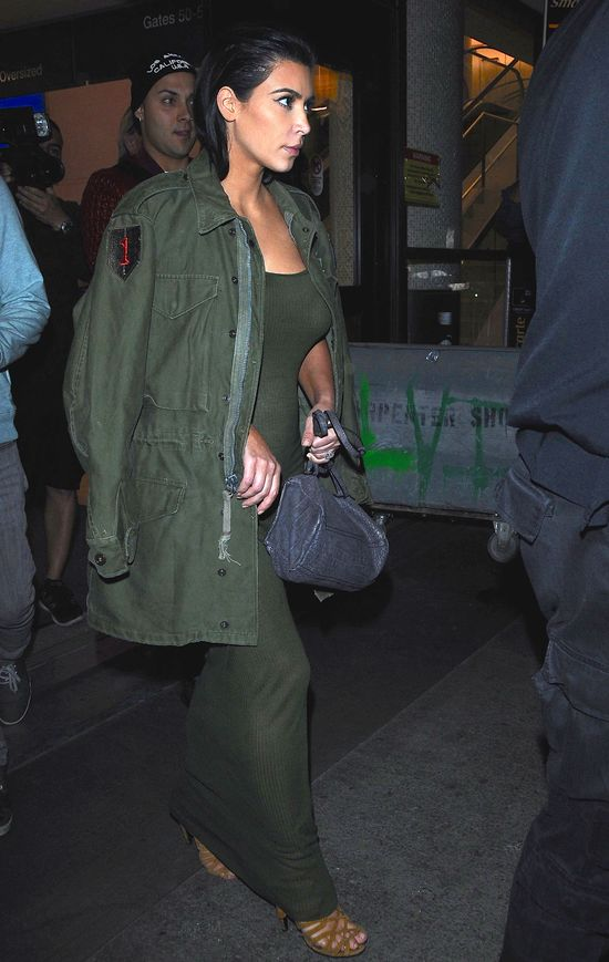 Ju� wida� zarys ci��owego brzuszka Kim Kardashian?