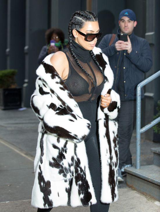 Kim Kardashian na ustawce pierwszy raz od czasu porodu FOTO