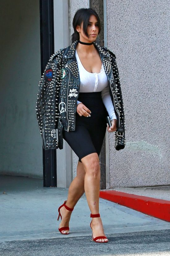 Kim Kardashian weszła na wagę i złapała się za głowę (FOTO)
