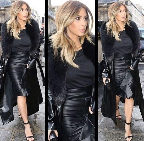 Paryski szyk Kim Kardashian (FOTO)