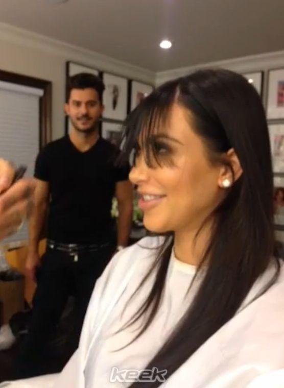 Kim Kardashian ścięła grzywkę! (VIDEO)