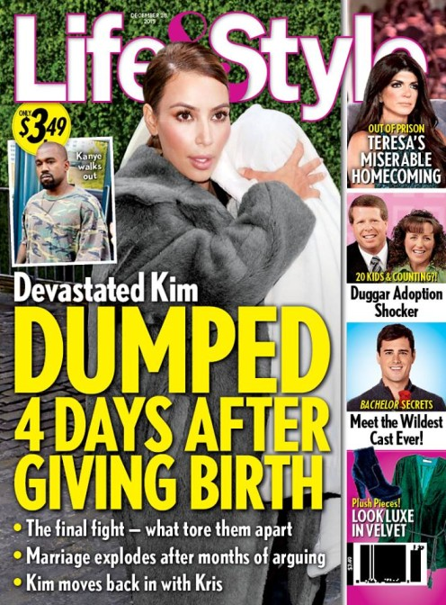 Kanye West rzucił Kim po tym, jak urodziła mu syna!