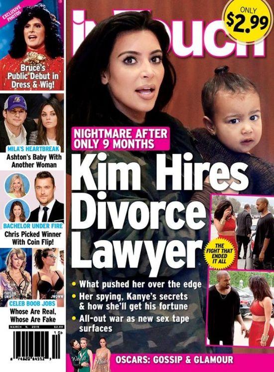 InTouch: Kim bierze rozwód. Zatrudniła już prawnika