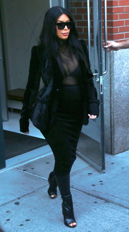 To najgorsza ci��owa stylizacja Kim Kardashian (FOTO)