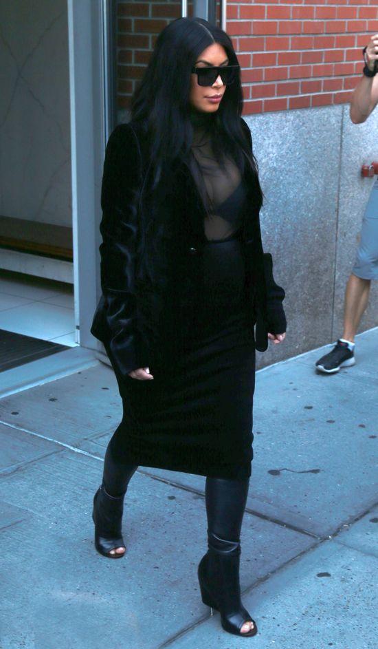 To najgorsza ciążowa stylizacja Kim Kardashian (FOTO)