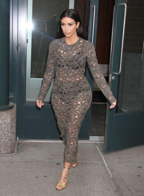 Kim Kardashian pokaza�a bielizn� na kolacji z Ann� Wintour!