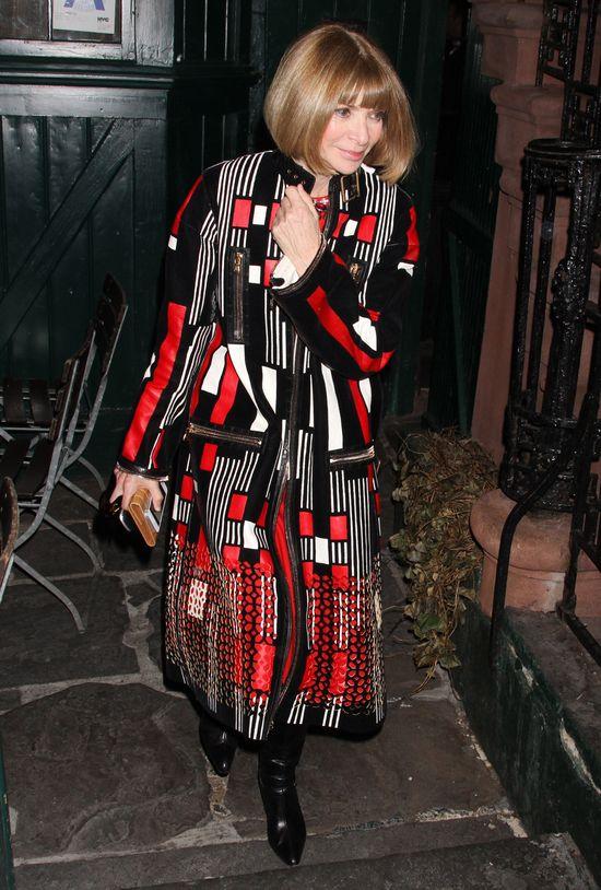 Kim Kardashian pokazała bieliznę na kolacji z Anną Wintour!