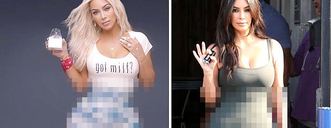 Fani są wściekli: Twoja talia, Kim, wcale tak nie wygląda!