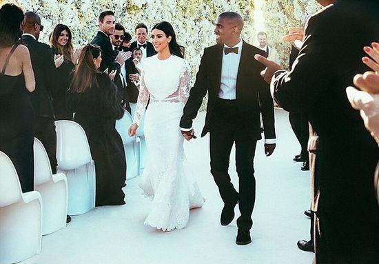 Mamy nowe zdjęcia ze ślubu Kim Kardashian i Kanye Westa!