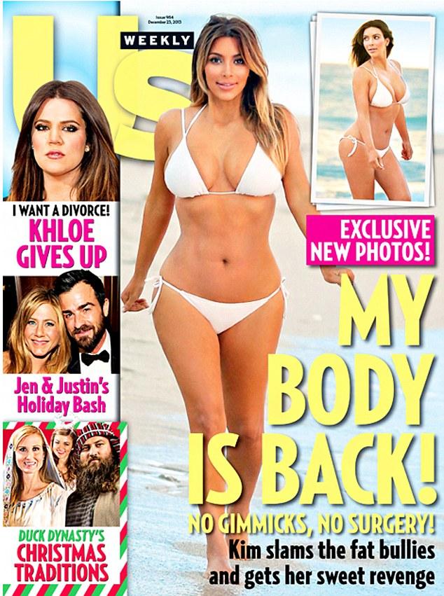 Kim Kardashian już ma okładkę po ciąży w bikini (FOTO)