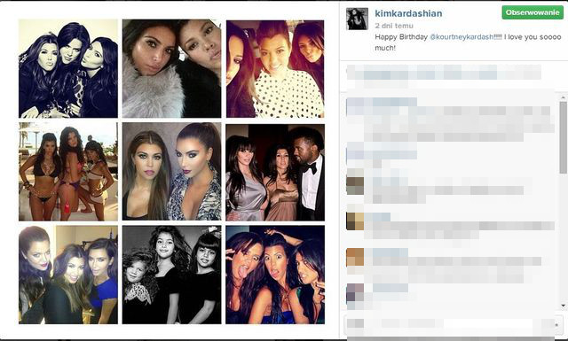 Kardashianki sk�adaj� �yczenia urodzinowe siostrze (FOTO)