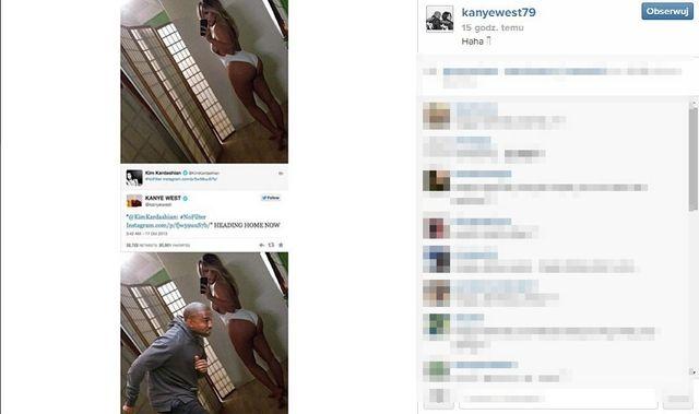 Kanye West śmieje się z Kim Kardashian? (FOTO)