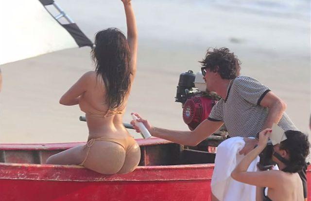 Zdziwicie się,gdy zobaczycie kulisy tej sesji Kim Kardashian