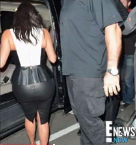 Ale wtopa - na pupie Kim pękła spódnica! (FOTO+VIDEO)