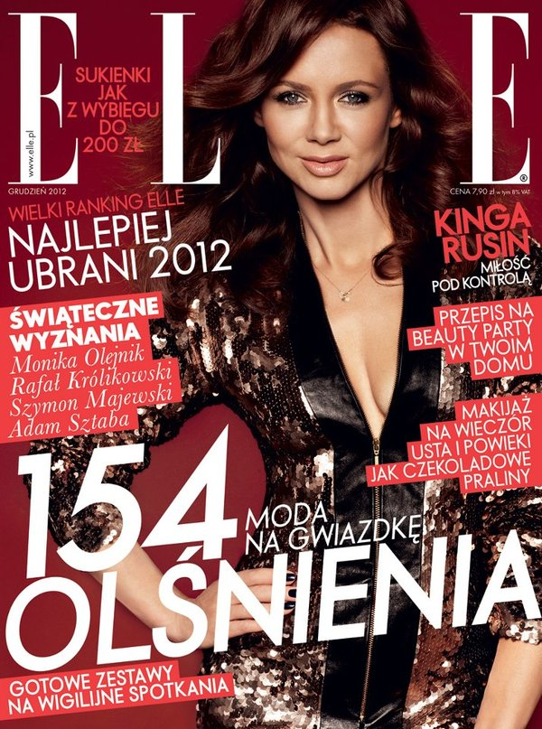 Seksowny dekolt Kingi Rusin na okładce Elle (FOTO)