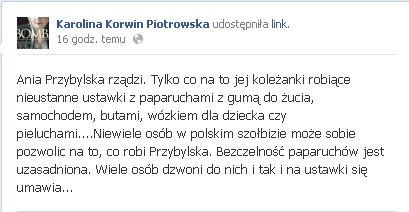 Korwin-Piotrowska: Bezczelność paparuchów jest uzasadniona!