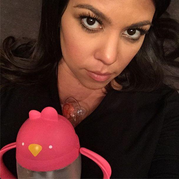 Kourtney Kardashian pokazała foto dziecka i... (FOTO)