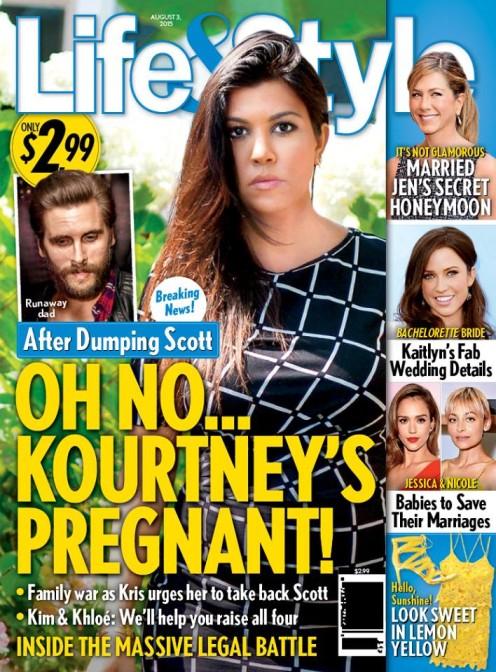 Life&Style: Kourtney Kardshian jest w CZWARTEJ ciąży!