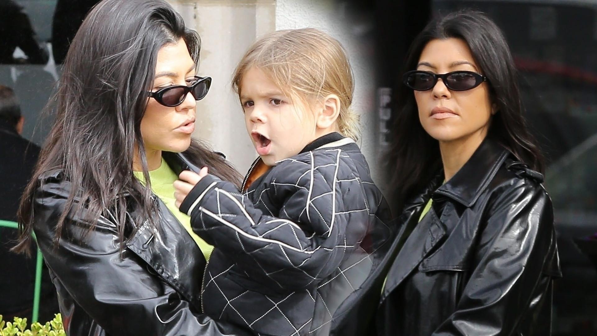 Kourtney Kardashian zabrała najmłodszego synka na obiad (ZDJĘCIA)