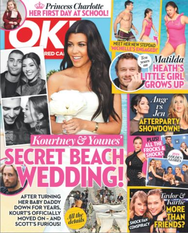 Kourtney Kardashian podczas ślubiu z Younesem wyglądała OBŁĘDNIE