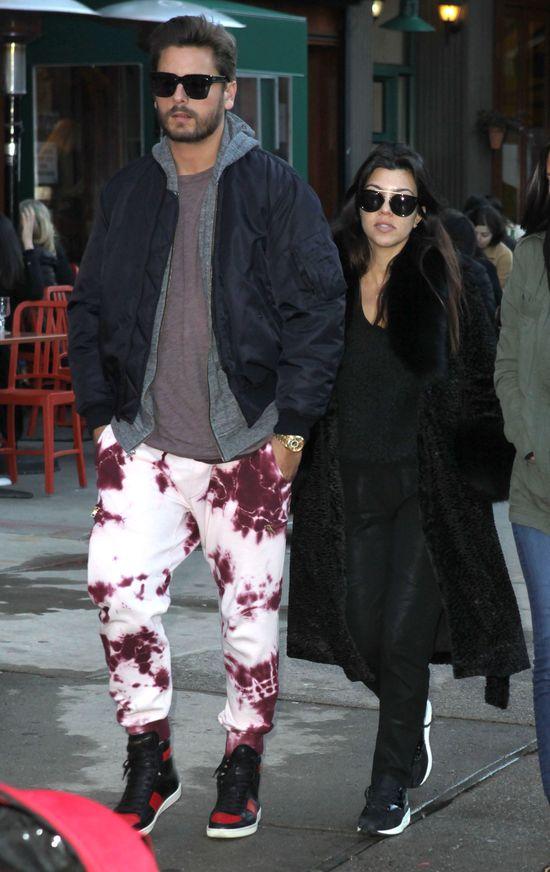 Kourtney Kardashian i Scott Disick zaliczyli modowe wpadki?