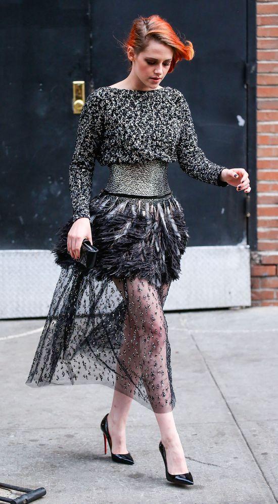 Kristen Stewart w drodze na galę MET (FOTO)