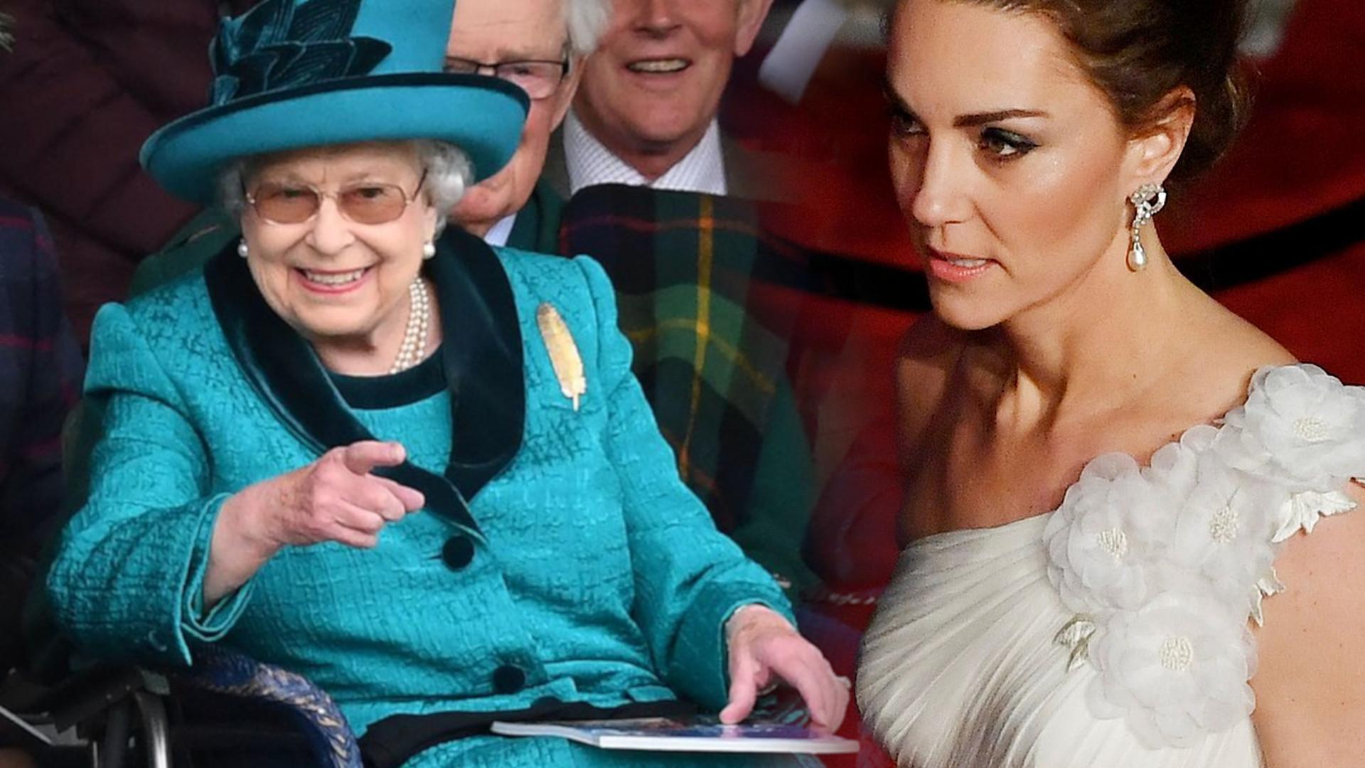 Królowa SKRYTYKOWAŁA księżną Kate za to zachowanie