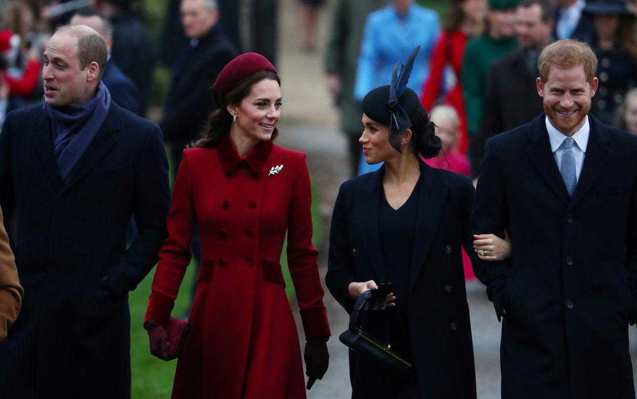 Wyszło na jaw co robiły księżna Kate i Meghan Markle po świątecznej mszy