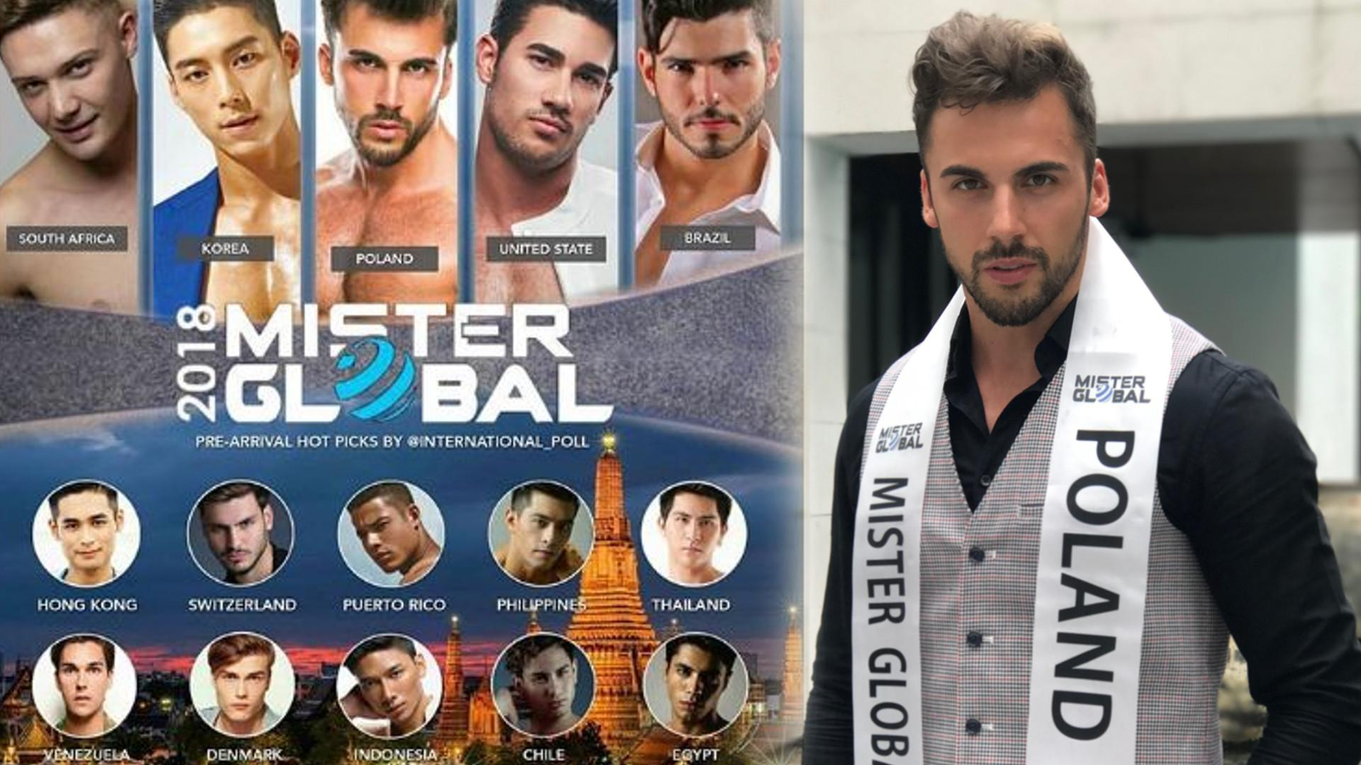 WOW! Jakub Kucner w TOP 5 konkursu MISTER GLOBAL!