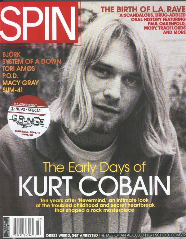 Kurt Cobain na nieznanym zdj�ciu z 1987 roku - w piwnicy