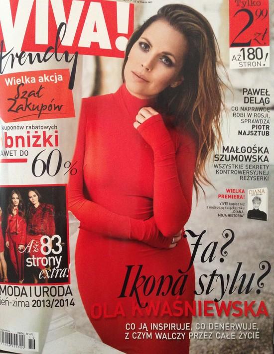 Ola Kwa�niewska w Vivie!: Media zepsu�y moj� sukni� �lubn�