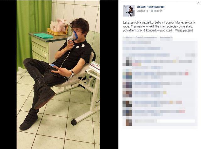 Dawid Kwiatkowski trafił do szpitala (FOTO)
