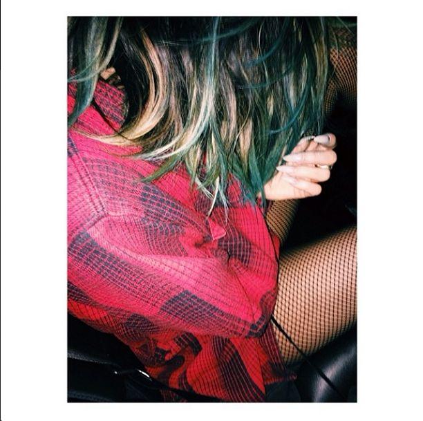 Kylie Jenner ma niebieskie włosy! (FOTO)