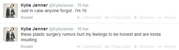 Kylie Jenner pierwszy raz o operacjach plastycznych
