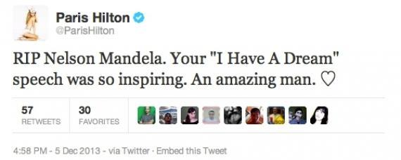 Paris Hilton nie wie, kim był Nelson Mandela?