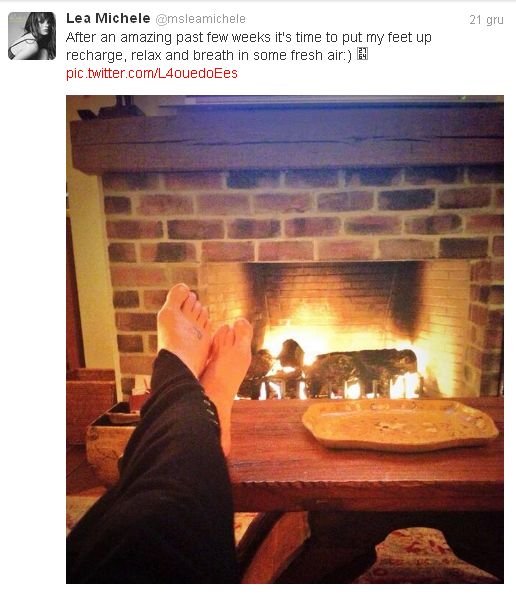 Lea Michele: Czas na relaks!