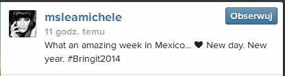 Lea Michele chwali si� cia�em w bikini (FOTO)