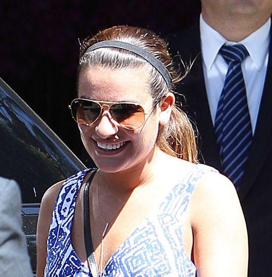 Ciężarna Lea Michele przyłapana z chłopakiem (FOTO)