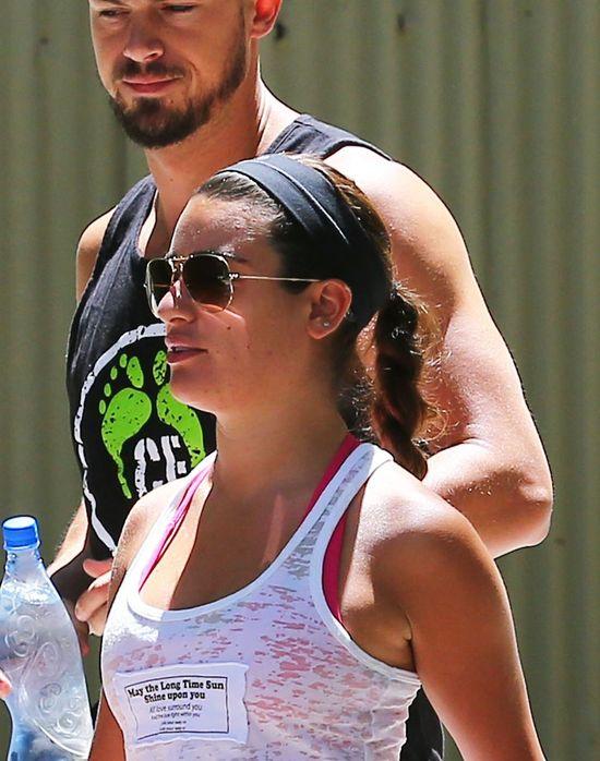 Lea Michele ma problemy z cerą (FOTO)