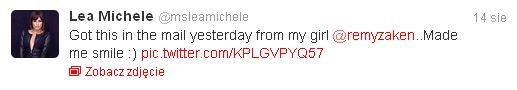 Lea Michele znów się uśmiecha