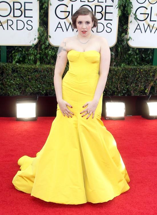 Lena Dunham na rozdaniu Złotych Globów pokazała swój tatuaż